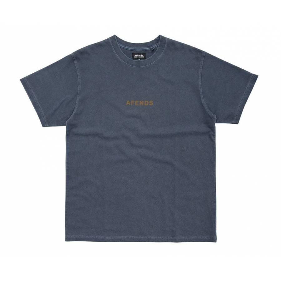 Afends Culture Wave Retro Fit Tee - Deep Navy