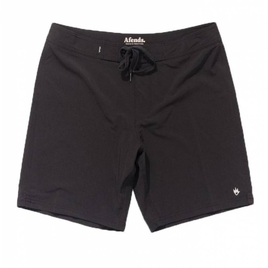 Afends Crucial Fixed Waist Boardshort - Black