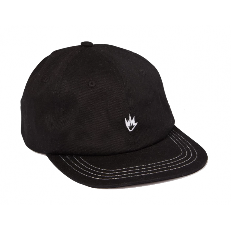 Afends Flame III Soft Brim 6 Panel Cap - Black