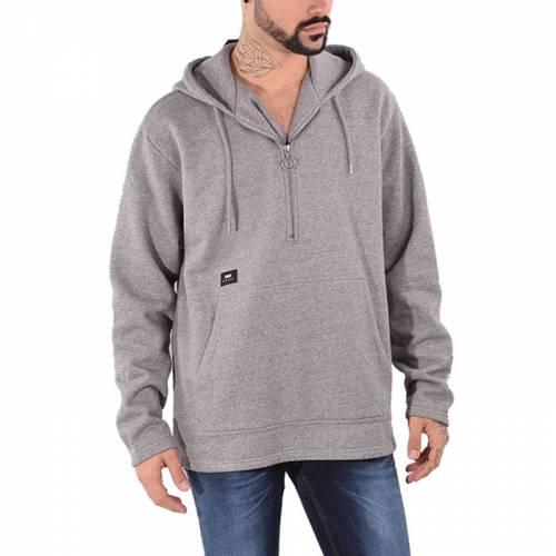Edwin Half Zip Hoodie Sweatshirt - Grey Marl