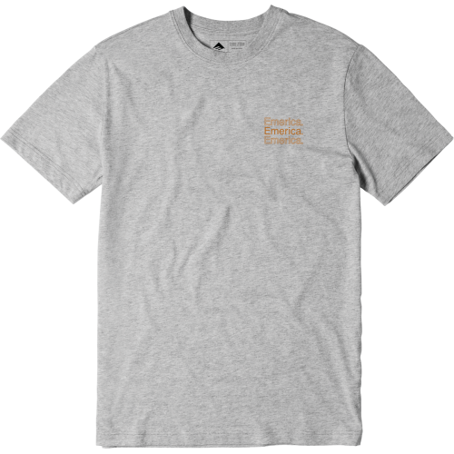 Emerica New Stacks Tee - Grey Heather