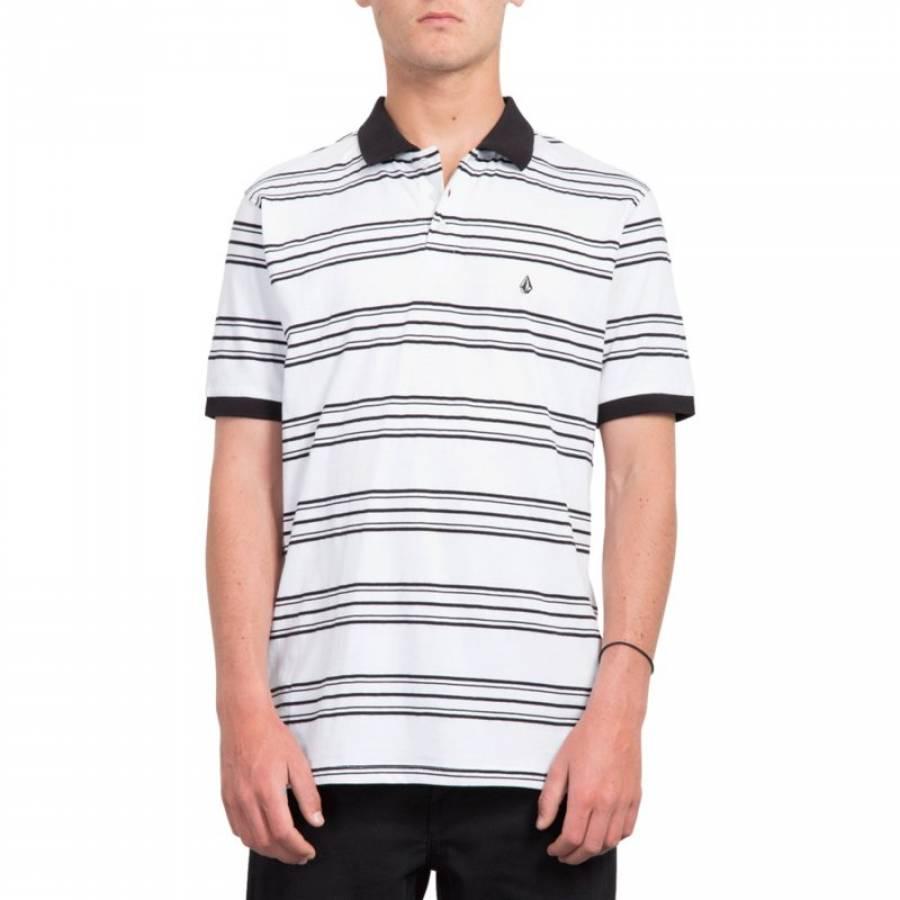 Volcom Wowzer Stripe Polo - White