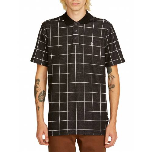 Volcom Wowzer Plaid Polo - Black