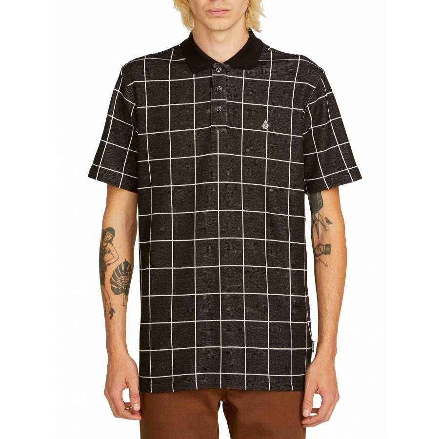 Volcom Wowzer Plaid Polo - Black