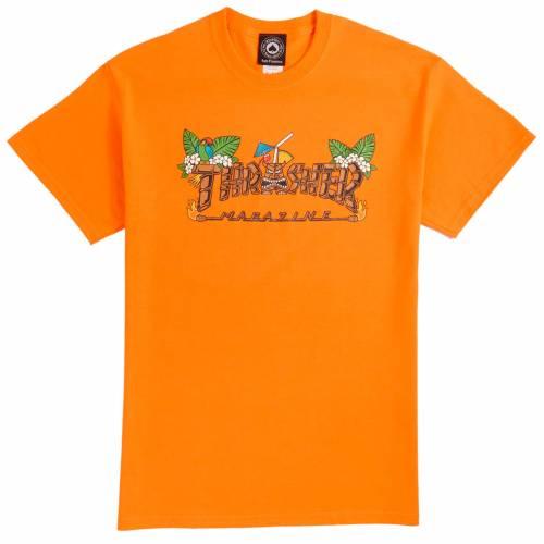 Thrasher Tiki Tee - Safety Orange