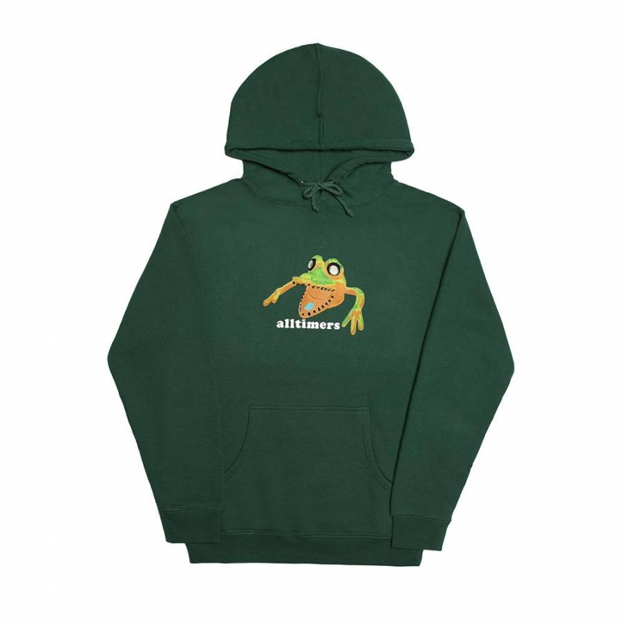 Alltimers Popped Monstra Hoody - Forest Green