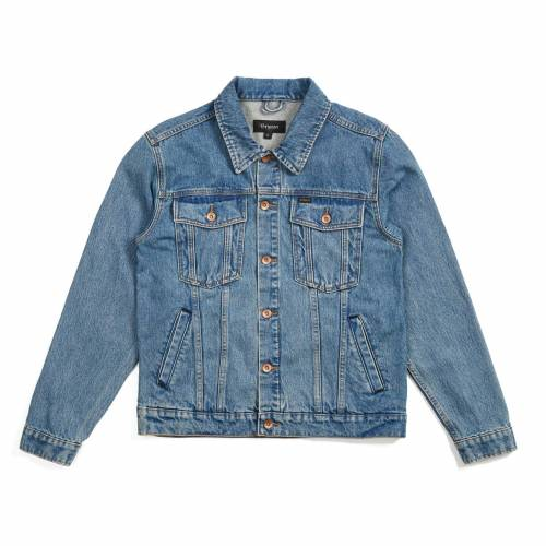 Brixton Cable Denim Jacket - Faded Indigo