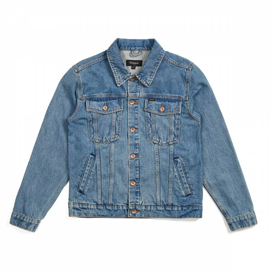 Brixton Cable Denim Jacket - Faded Indigo
