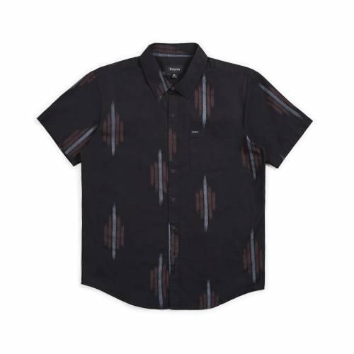 Brixton Charter Print S/S Woven Shirt - Black / Re...