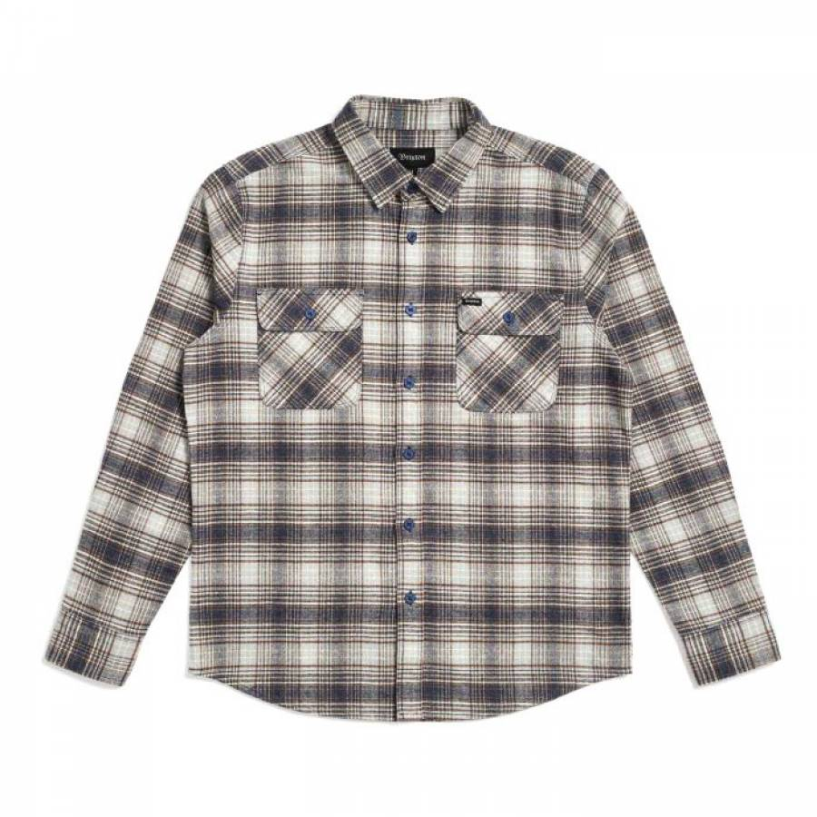 Brixton Bowery Flannel Shirt - Twilight Blue