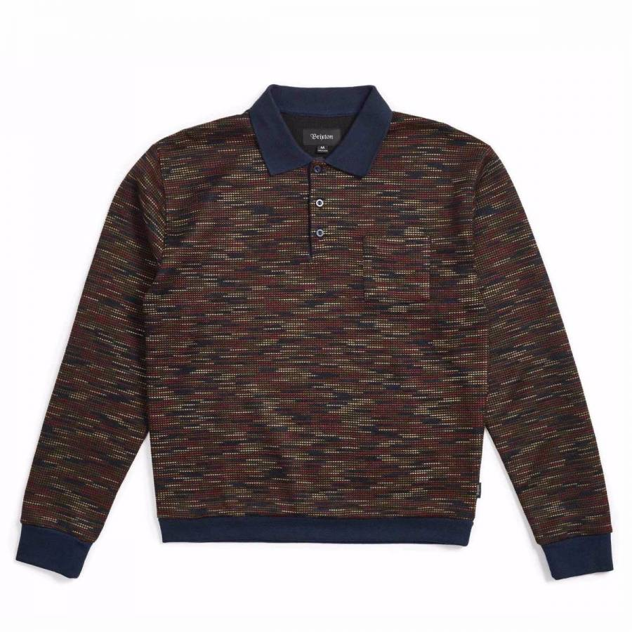 Brixton Men's Cypher Knit Polo Sweater - Navy / Ma...
