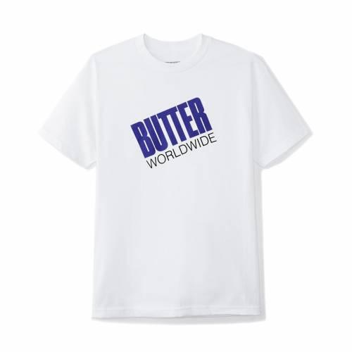 Buttergoods Tilt Logo Tee - White