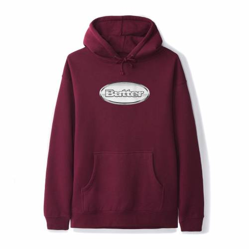 Butter Goods Chrome Badge Logo Pullover - Burgundy