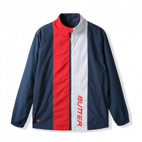 Butter Goods Runner Tracksuit Jacket - Navy / Red
