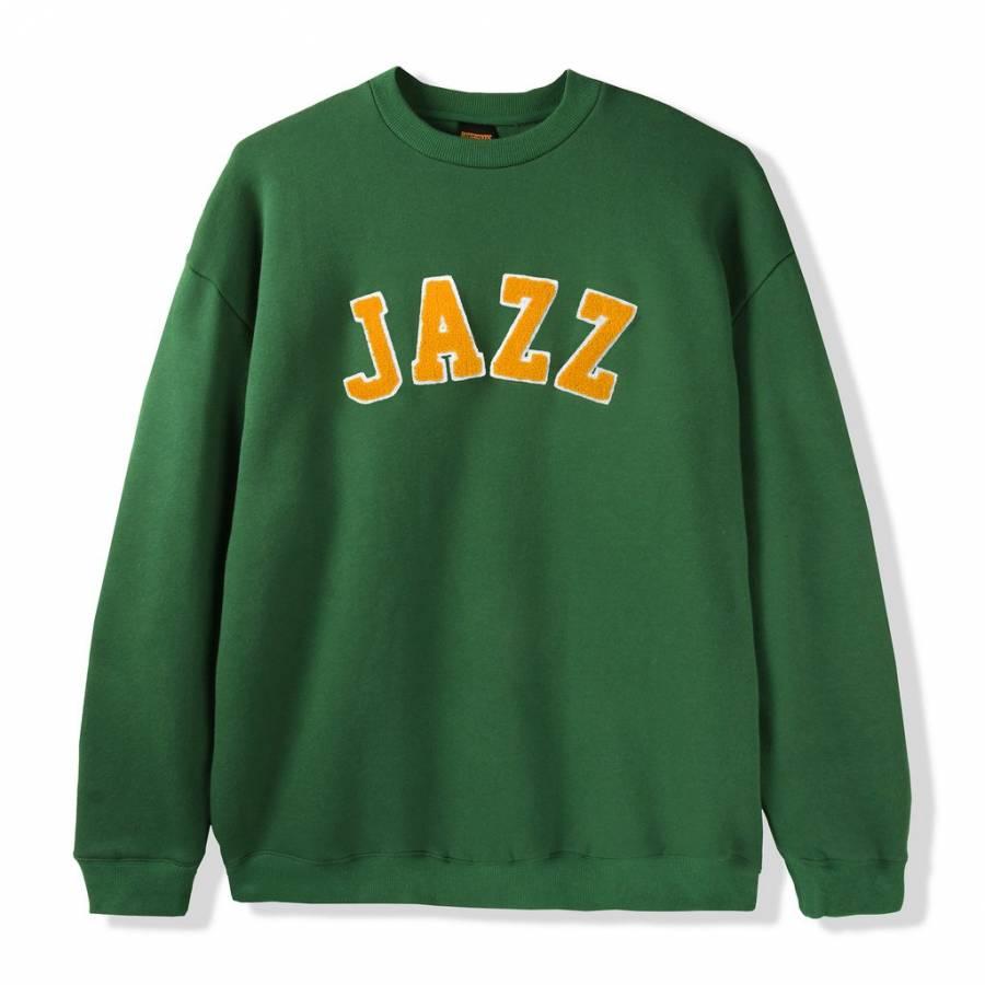 Butter Goods Jazz Applique Crewneck Sweat - Forest...