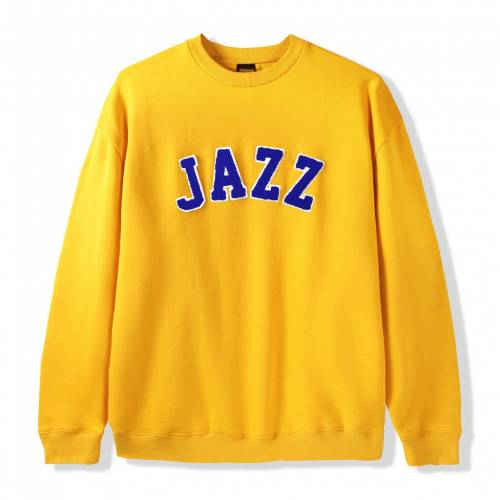 Butter Goods Jazz Applique Crewneck Sweat - Yellow