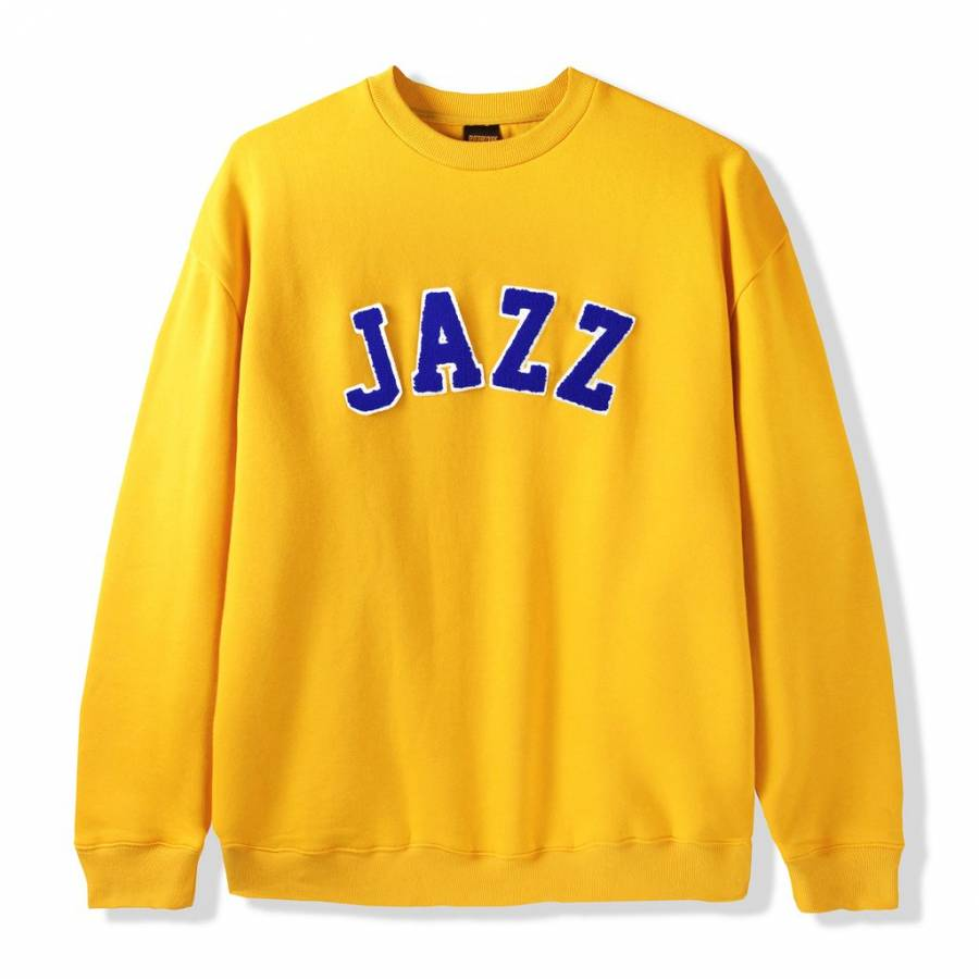 Butter Goods Jazz Applique Crewneck Sweat - Yellow