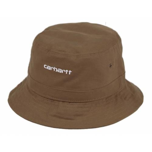 Carhartt Script Bucket Hat - Hamilton Brown/White