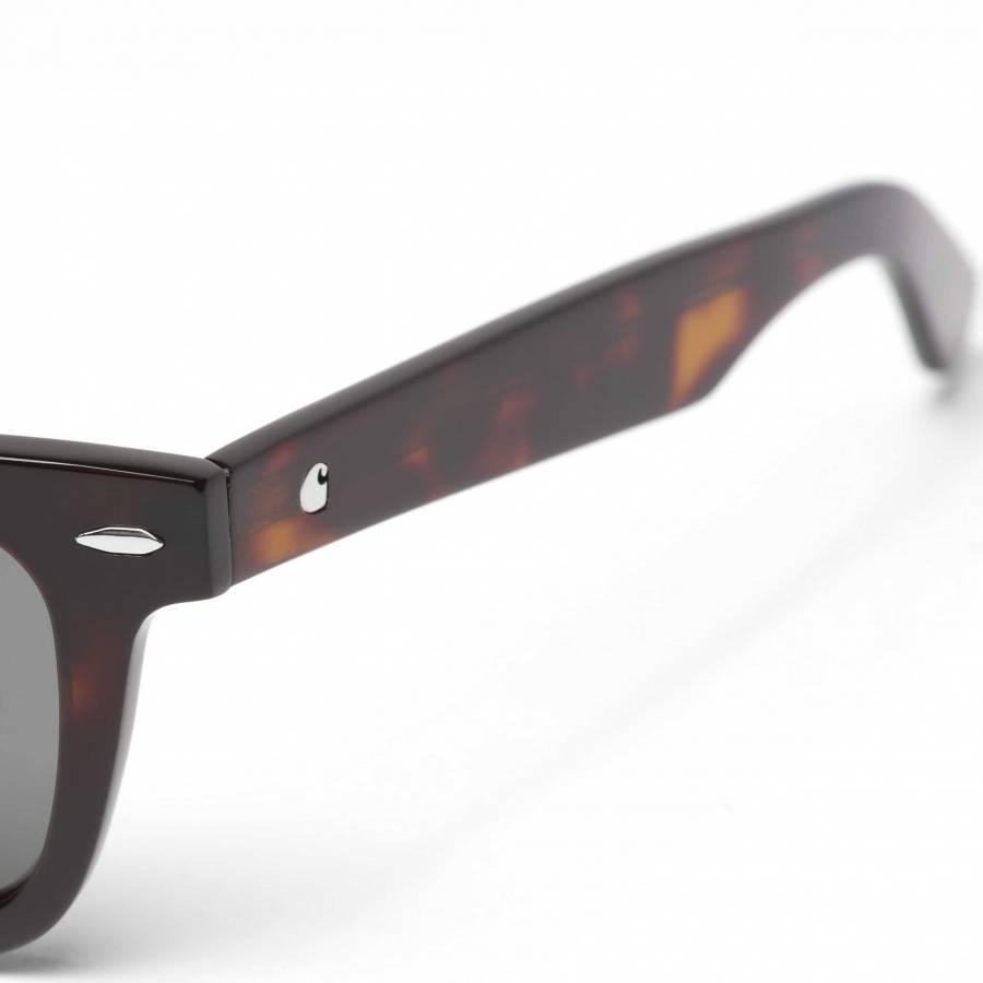 Carhartt Fenton Sunglasses - Tortoise Shell / Green Lenses