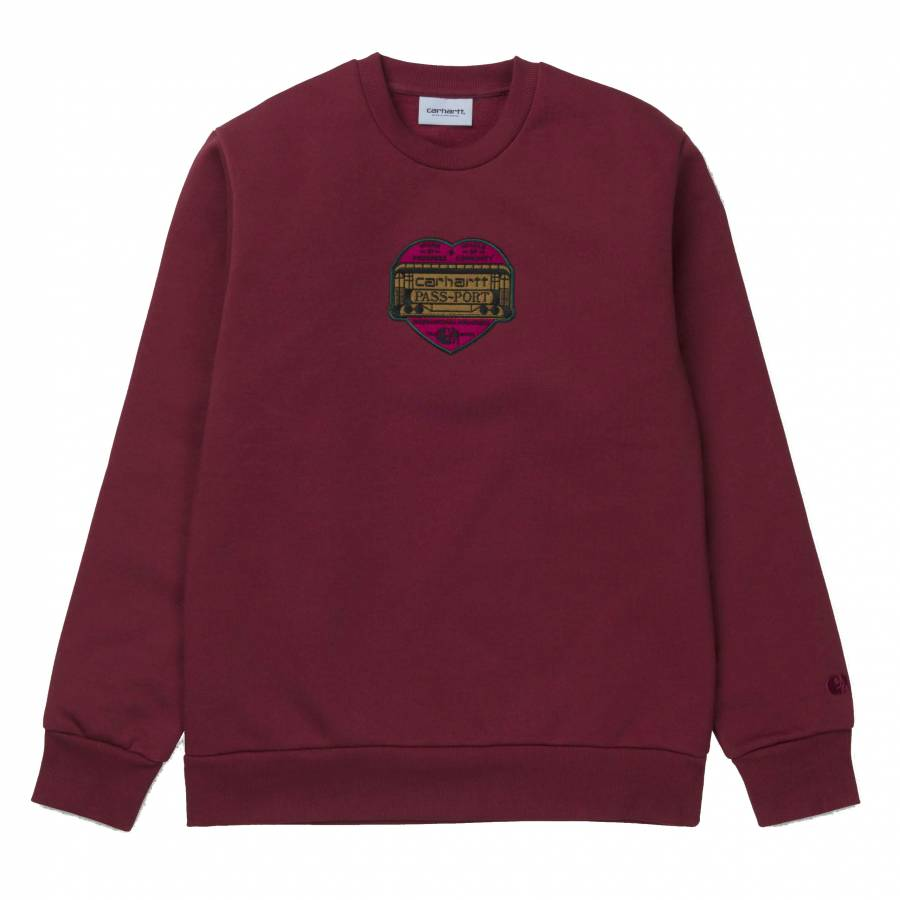 Carhartt X Pass Port Thank You Sweatshirt - Burnt ...