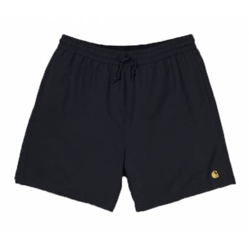 Carhartt Chase Swim Trunk Shorts - Black/Gold