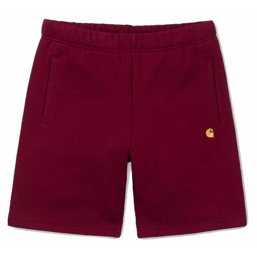 Carhartt Chase Sweat Short - Mulberry/Gold