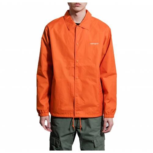 Carhartt Script Coach Jacket - Brick Orange/Black