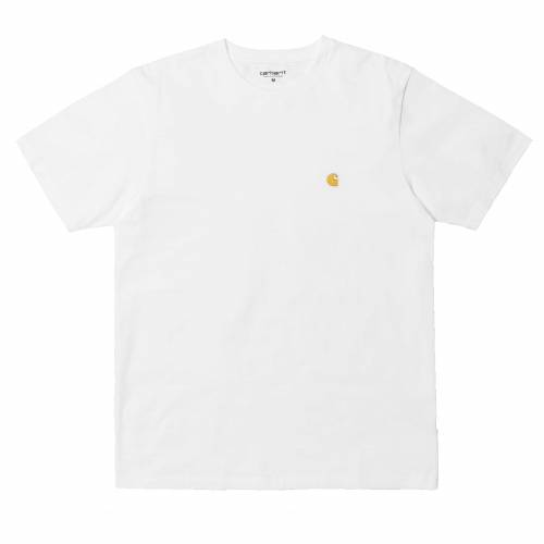 Carhartt Chase T-Shirt - White/Gold