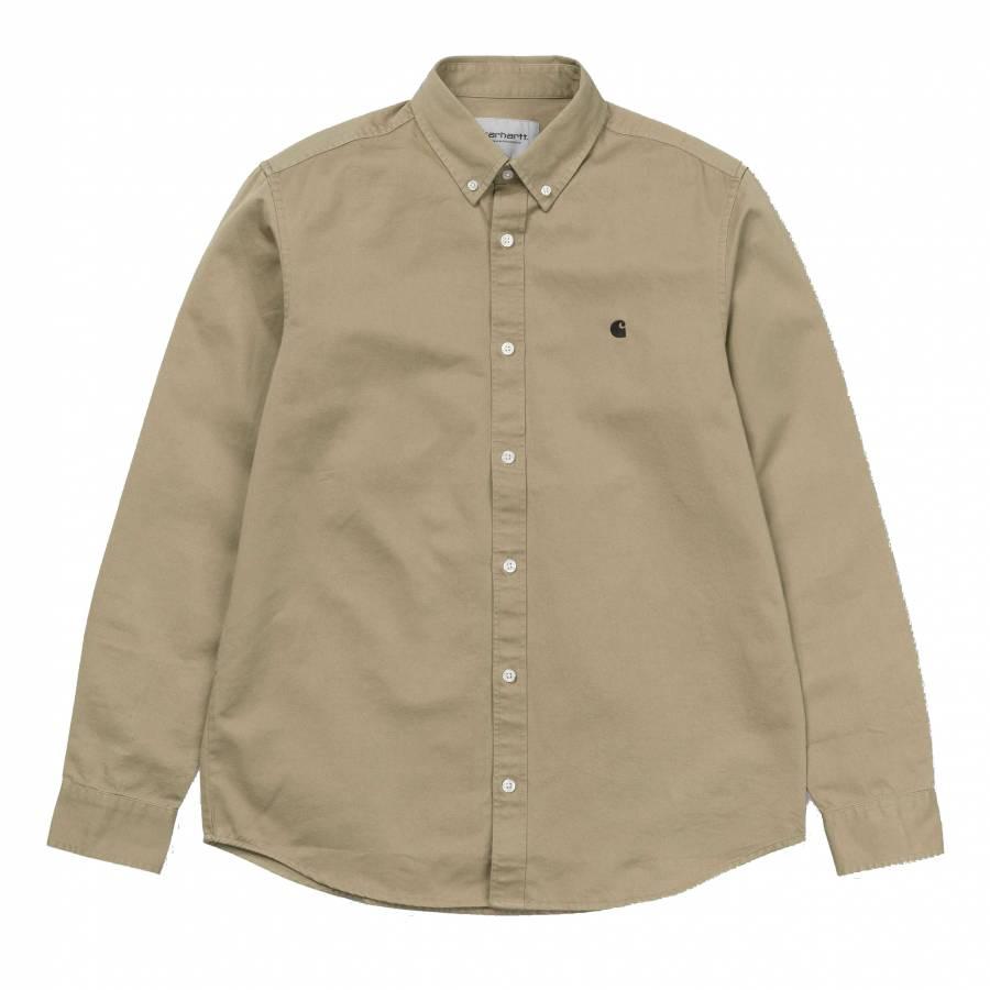 Carhartt L/S Madison Shirt - Leather / Black