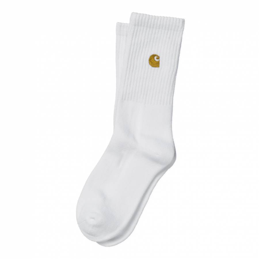 Carhartt Wip Chase Socks - White/Gold