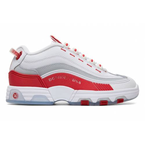 DC Shoes Legacy Og Shoes - White/Red