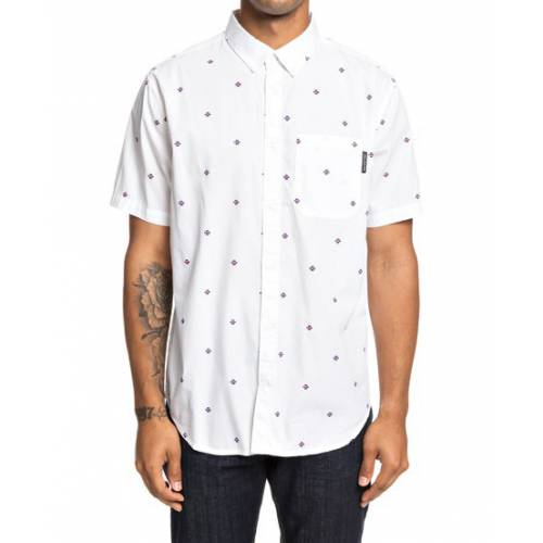 Dc Shoes Up Pill Short Sleeve Shirt - Snow White
