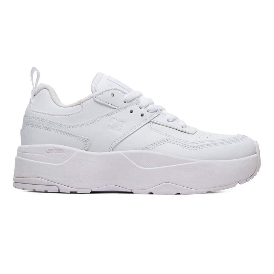 Dc Women's E.Tribeka Platform Shoes - White