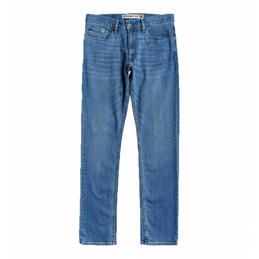 DC Shoes Worker Straight Fit Jeans - Light Indigo ...