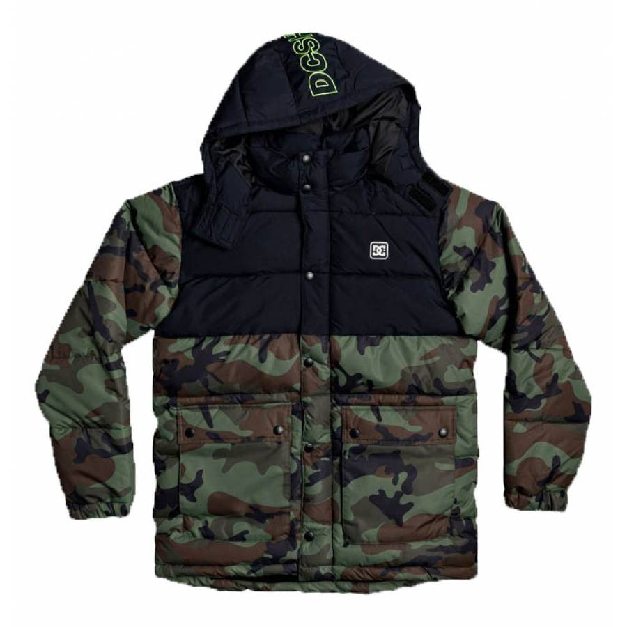 DC Shoes Straffen Water Resistant Hooded Puffer Ja...