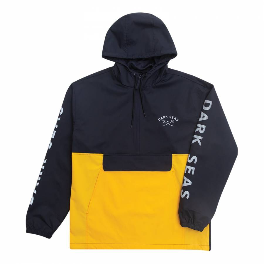 Dark Seas Foul Weather Anorak - Navy / Gold