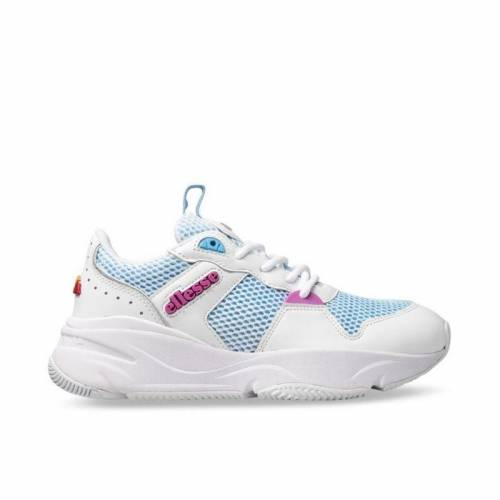 Ellesse Aspio Leather AF Shoes - White/Alaskan Blu...