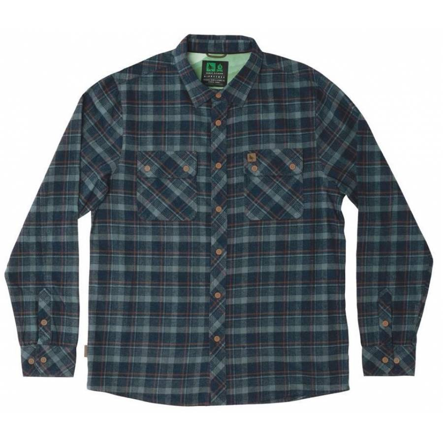 Hippytree Baker Flannel Shirt - Navy