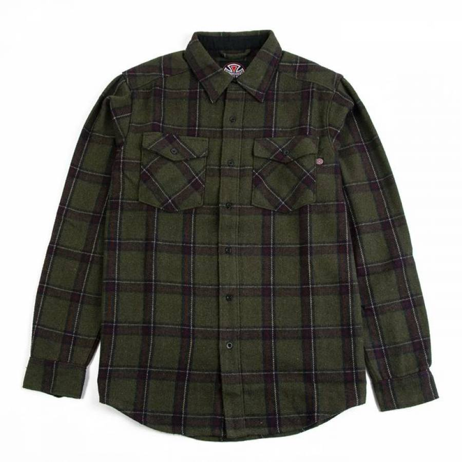 Independent Chainsaw Shirt - Military Plaid