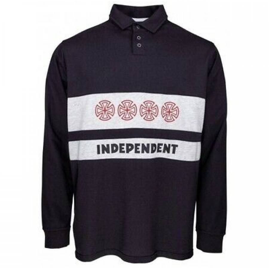 Independent Crosses Polo Crew - Black/Athletic Hea...