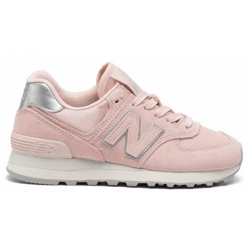 New Balance 574 Shoes - Oyster Pink/Metallic Silve...