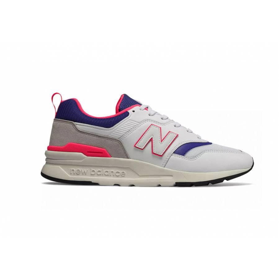 New Balance 997 Shoes - White/Pink/Purple