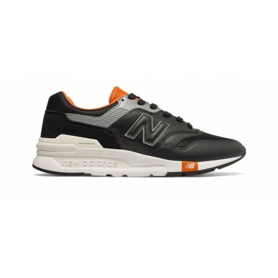 New Balance 997H - Black with Vintage Orange