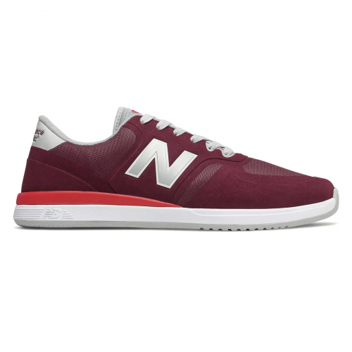 New Balance Numeric 420 Shoes - Burgundy with Red