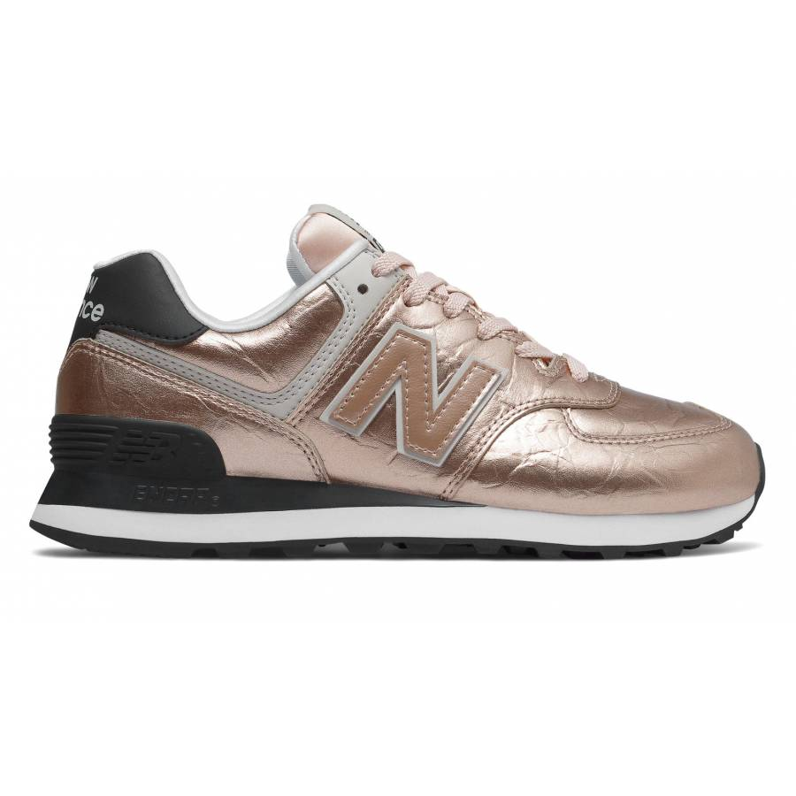 New Balance WL574WER - Rose Gold with Black