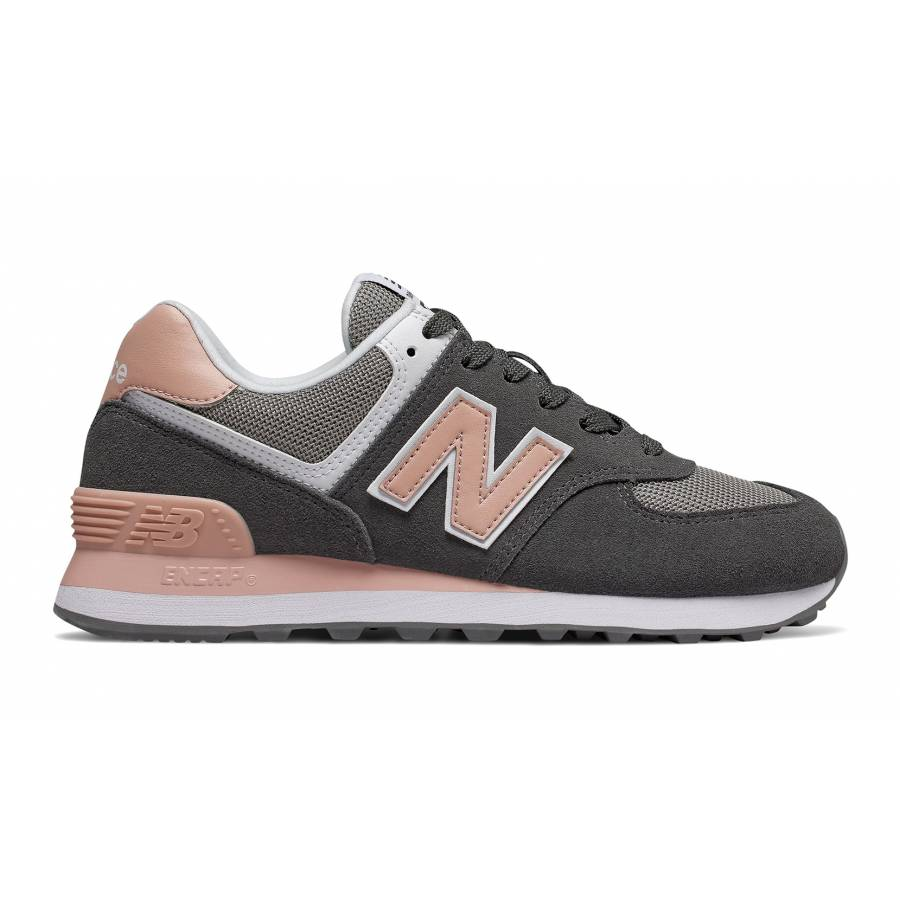 New Balance 574 Shoes - Grey / Pink