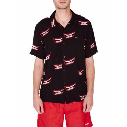 Obey Lips Woven Shirt - Black Multi