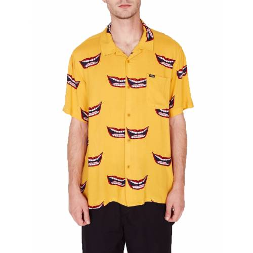 Obey Lips Woven Shirt - Mineral Yellow Multi
