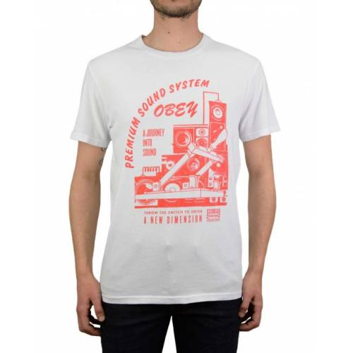 Obey Soundsystem Tee - White