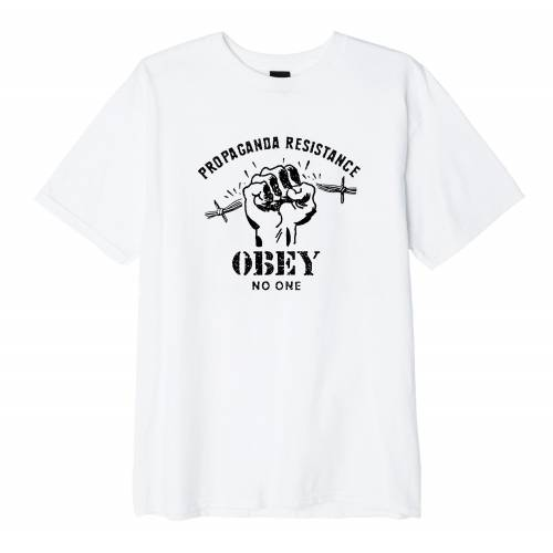 Obey Resist Fist Basic T-Shirt - White